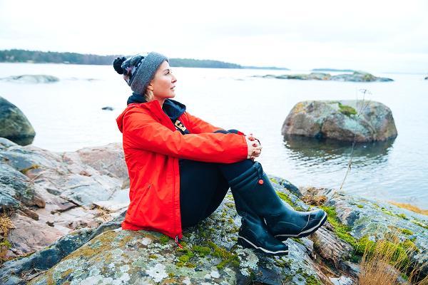 Kristina Roth trên hòn đảo côsở hữu. Ảnh:Kristina Roth