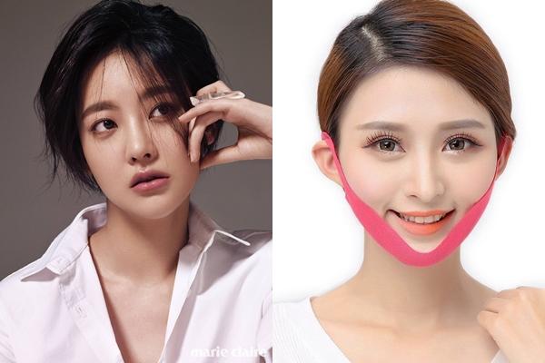 Mỹ nhân 31 tuổi tiết lộ, bí quyết của cô là thường xuyên sử dụng mặt nạ V-line. Đây là sản phẩm mặt nạ nổi tiếng của Hàn Quốc, giúp nâng cơ mặt, chống chảy xệ và làm giả