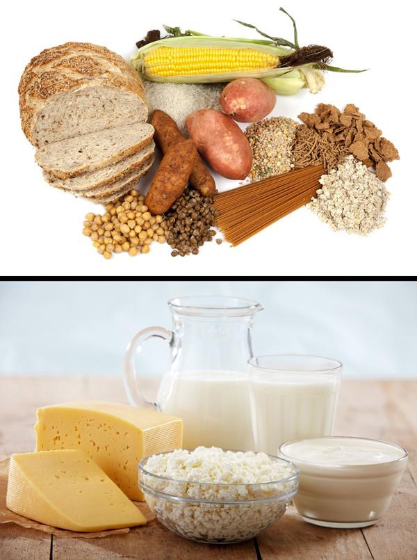 Ưu tiên thực phẩm chứa chất xơ và chế phẩm từ sữa
