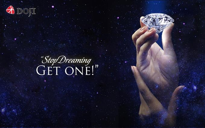 Vẻ lấp lánh của những viên kim cương.