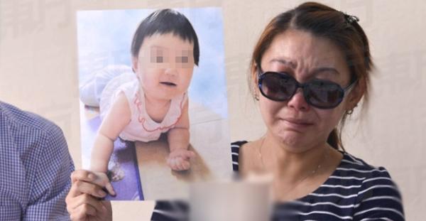 Bé gái qua đời do chết não khi mới 9 tháng tuổi hồi cuối tháng 1. Ảnh: Oriental Daily