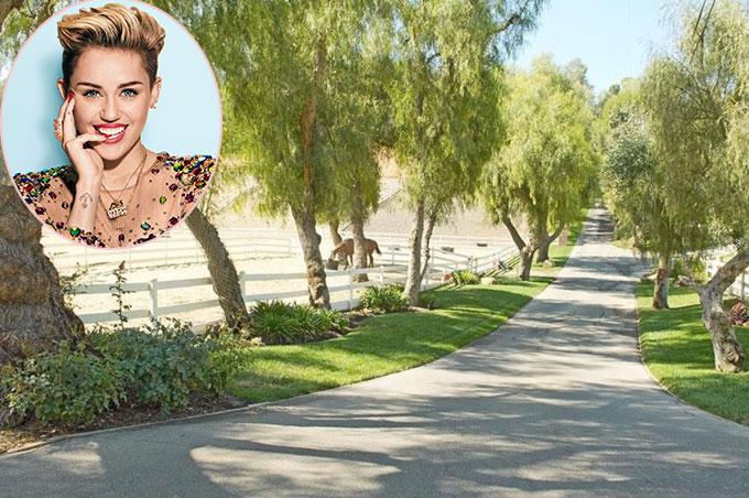 Tuổi thơ từng gắn bó với trang trại ở vùng quê Tennessee nên khi có điều kiện, Miley Cyrus đã tự bỏ tiền mua điền trang rộng lớn để thỏa ước mơ được cưỡi ngựa, sống chan hòa với thiên nhiên như hồi thơ bé. Nữ ca sĩ tậu cơ ngơi này ở Hidden Hills, California vào năm 2015 với giá 5 triệu USD (gần 114 tỷ đồng).