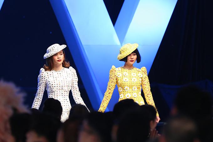 Một trong những điểm thú vị và tạo nên bất ngờ cho đêm diễn là sự xuất hiện của Hồ Ngọc Hà và Thanh Hằng trong vài trò vedette.