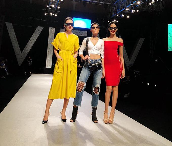 Bộ ba Mâu Thuỷ, HHen Niê và Hoàng Thuỳ tái xuất trong chương trình Tuần lễ thời trang quốc tế.