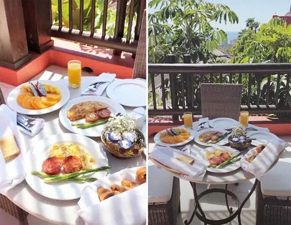 Bữa sáng giữa khung cảnh ngập tràn ánh nắng của gia đình Sterlingl