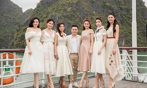 Dàn sao lộng lẫy đến Hạ Long ủng hộ nhà thiết kế Lê Thanh Hoà