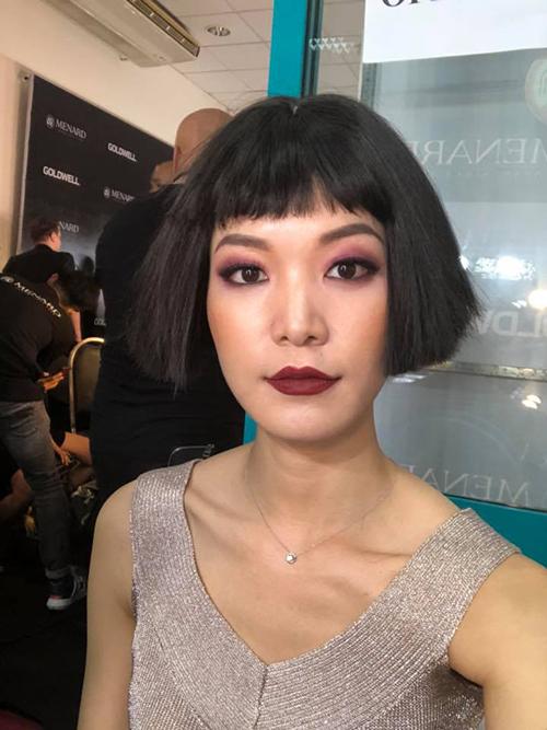 Sau thời gian ở ẩn, ít tham gia showbiz, Thuỳ Dung nhận lời diễn một show thời trang trong khuôn khổ Tuần lễ thời trang Quốc tế.