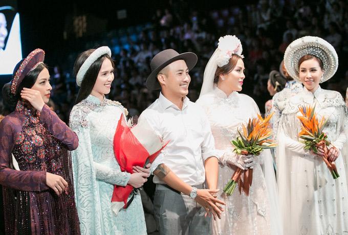 Ngọc Trinh diện áo dài đính 5.000 viên pha lê, làm 'first face' diễn show của Bảo Bảo