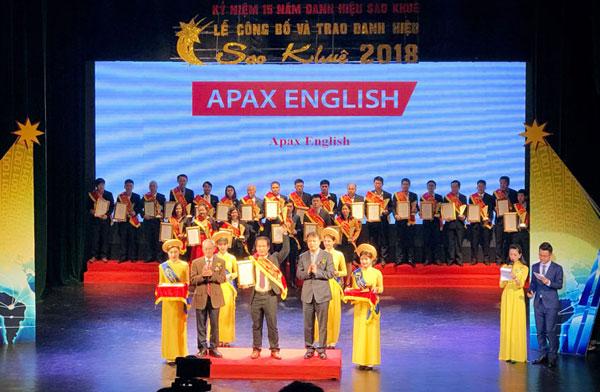 Apax English nhận giải thưởng Sao Khuê 2018