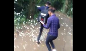 Nhóm bạn trẻ giẫm đạp, chạy xe lao vào đàn bướm ở rừng Cúc Phương