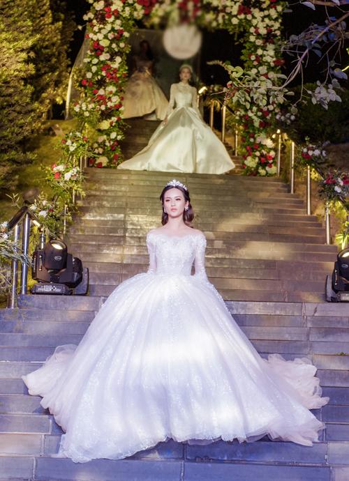 Hà Lade đài các với váy cưới công nương - 6