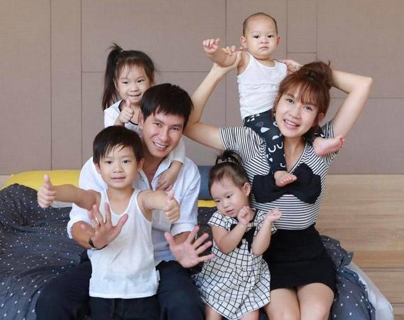 Tổ ấm của vợ chồng Lý Hải - Minh Hà với 4 nhóc tỳ tinh nghịch.