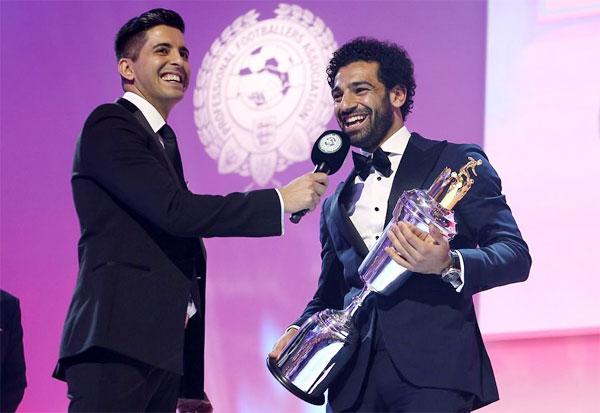 Tiền đạo Salah của Liverpool được các đồng nghiệp bình chọn là Cầu thủ hay nhất mùa igiar