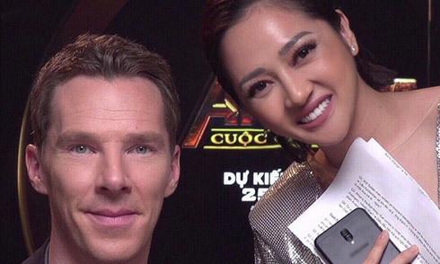 Bảo Anh nói tiếng Anh trôi chảy khi phỏng vấn đoàn phim 'Avengers'