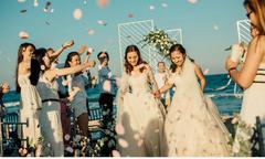 Tiệc cưới ở biển Bình Thuận của hai cô gái từng yêu chung một người