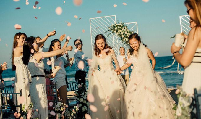 Tiệc cưới ở biển Bình Thuận của hai cô gái từng yêu chung một người - 9