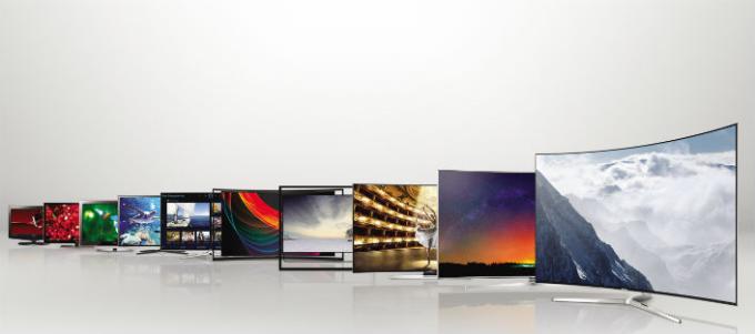 Dòng TV cao cấp của Samsung có thiết kế sang trọng, công nghệ hình ảnh cao cấp cùng sắc màu sống động.