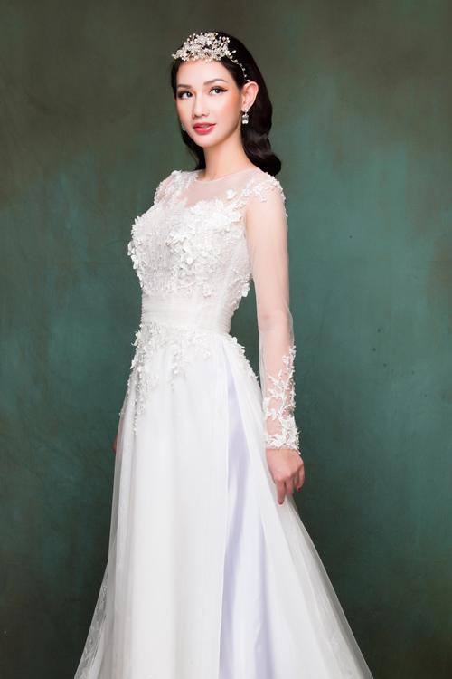 Quỳnh Chi chọn áo dài cưới giúp cô dâu yêu kiều như công chúa - 5