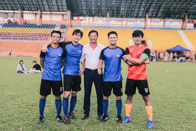 Nhan Phúc Vinh đóng phim với cựu danh thủ Lê Huỳnh Đức - 1