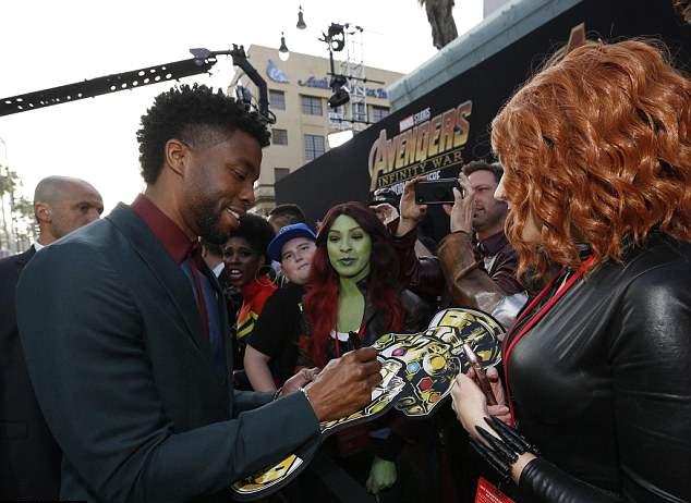 Ngôi sao Black Panther Chadwick Boseman.