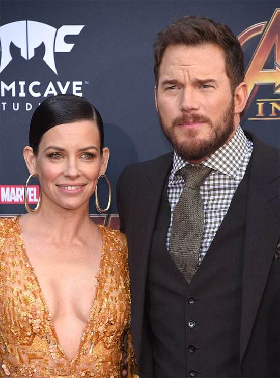 Diễn viên Evangeline và tài tử Chris Pratt.
