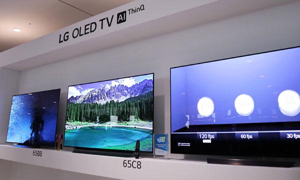 Các dòng TV Oled 2018 của LG. Ảnh: NN.