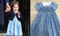 Váy hoa nhí công chúa Charlotte diện khi đến thăm em trai 'cháy hàng'