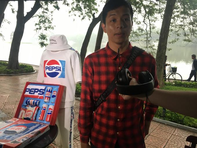 Phan An - chàng trai đã tìm được câu trả lời hoàn toàn chính xác để nhận phần quà từ Pepsi.