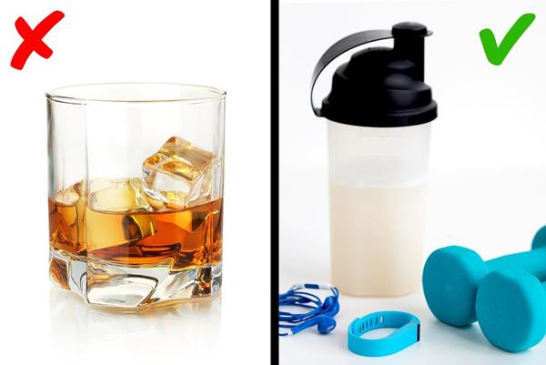 Không dùng đồ uống chứa cồn