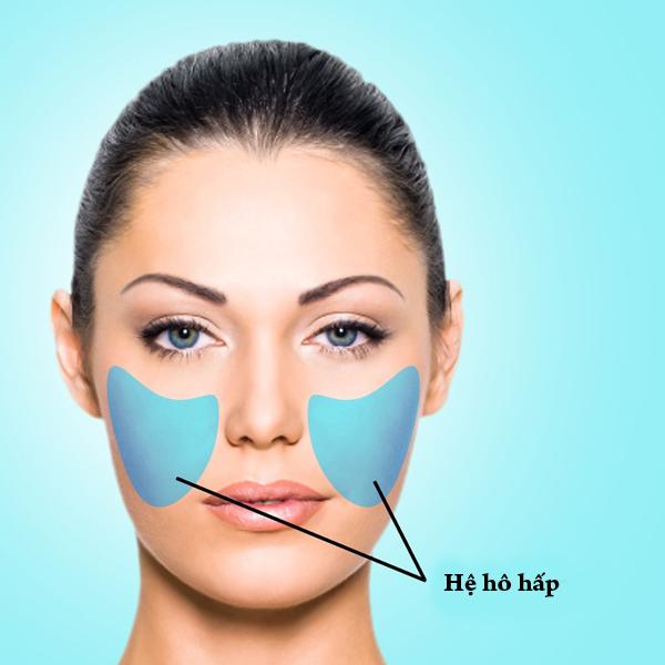 Mụn ở hai bên má báo hiệu hệ hô hấp hoạt động kém hiệu quả. Một nguyên nhân khác là do cơ thể dung nạp một lượng đường lớn. Liên tục áp điện thoại di động vào mặt cũng là nguyên nhân gây ra mụn ở hai bên má.