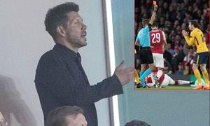HLV Simeone và học trò lần lượt bị đuổi khỏi sân