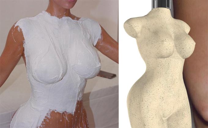 Chai nước hoa mới có hình dạng giống cơ thể Kim.