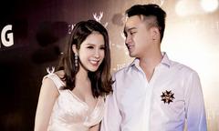 Diệp Lâm Anh và chồng sắp cưới tay trong tay đi sự kiện