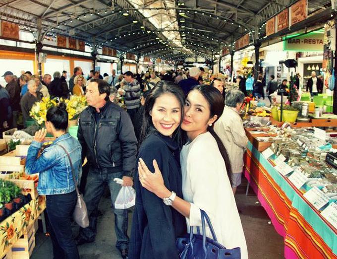 Tăng Thanh Hà đăng ảnh mừng sinh nhật cô bạn thân Thân Thuý Hà kèm lời nhắn: Happy birthday đại bàng iu của em.