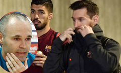 Messi và Suarez vắng mặt trong họp báo chia tay của Iniesta