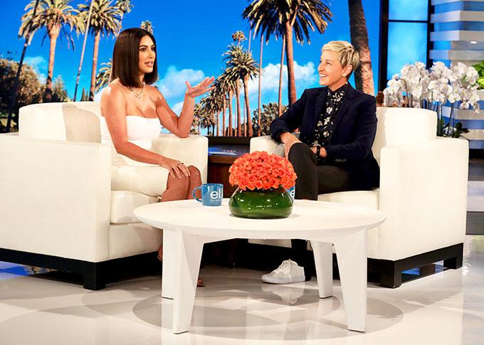 Kim trò chuyện trong The Ellen DeGeneres Show.