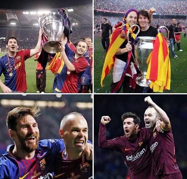 Messi tổng hợp các khoảnh khắc vinh quang đáng nhớ bên Iniesta trong ngày đội trưởng tổ chức họp báo