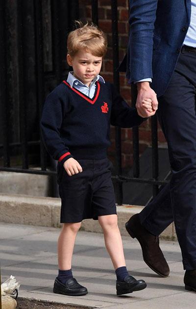 Hoàng tử George sinh năm 2013 - người đứng thứ 3 trong danh sách thừa kế ngai vàng của Nữ hoàng Anh. Ảnh: AFP.