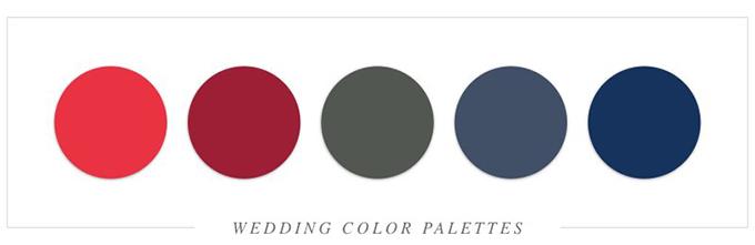 Dải màu sử dụng đỏ và xanh đen làm màu chủ đạo.