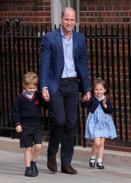 Hoàng tử William, Hoàng tử George và Công chúa Charlotte đều là những cái tên xuất hiện dày đặc ở Anh. Ảnh: Hello.