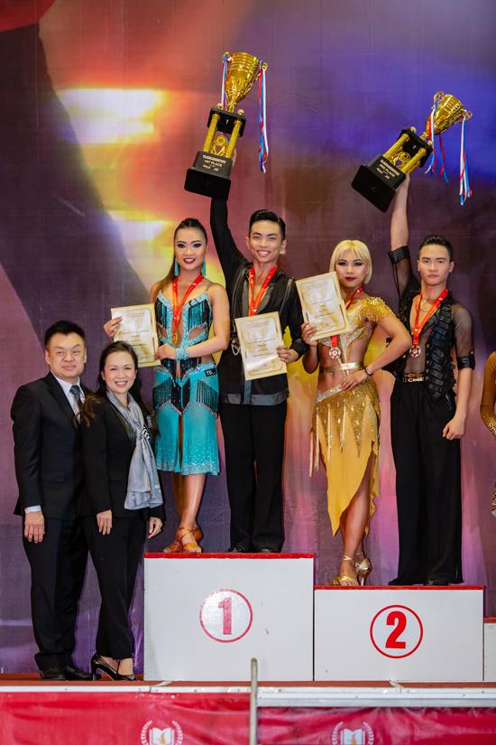 Tại giải đấu vừa qua, Phan Hiển - Nhã Khanh đã giành chức vô địch ở mảng 5 điệu Latin.