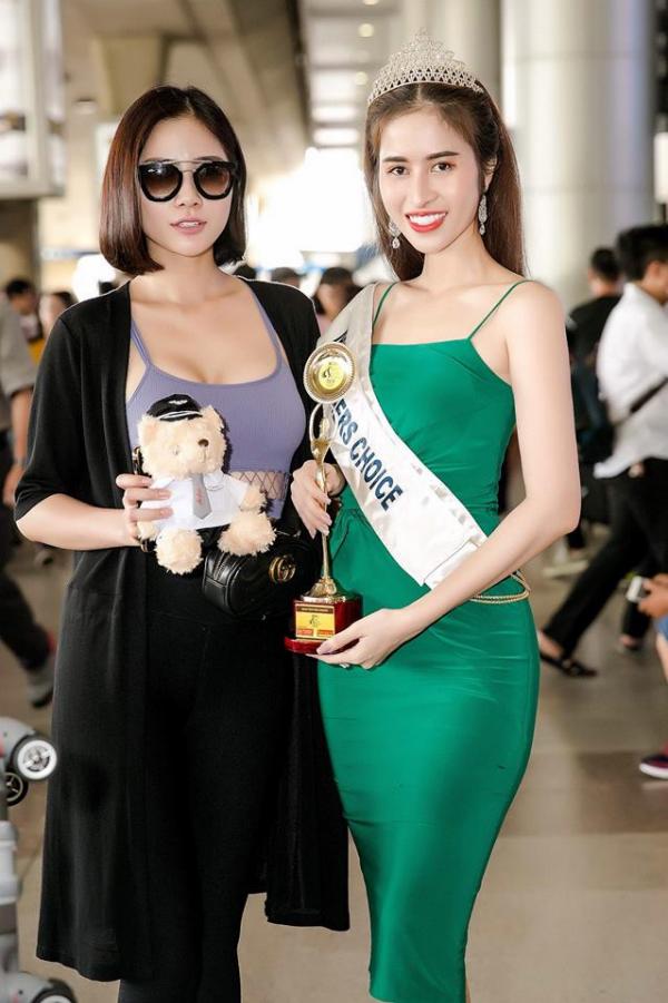 Princess Ngọc Hân trở về nước sau khi giành giải Hoa hậu được yêu thích nhất - 1