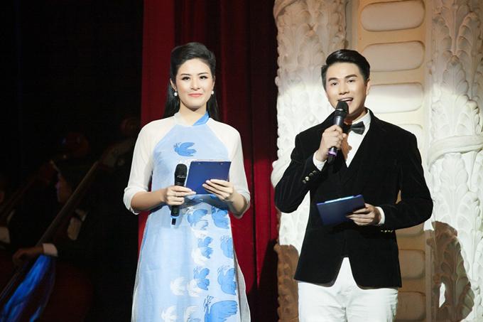 Hoa hậu Ngọc Hân khiến MC Vũ Mạnh Cường ngẩn ngơ - 2