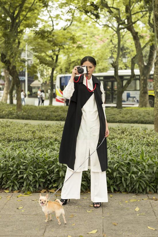 Mai Giang dạo phố với trang phục của NTK Hà Linh Thư - 6
