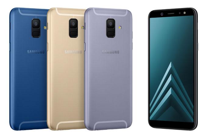 Galaxy A6 với camera đơn phía sau và cảm biến vân tay đặt phía dưới camera.