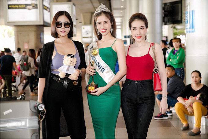 Princess Ngọc Hân trở về nước sau khi giành giải Hoa hậu được yêu thích nhất - 2