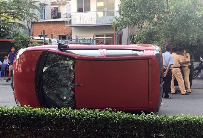 Hiện trường vụ tai nạn. Ảnh: Tin Tin