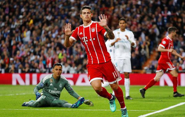 Kimmich và James Rodriguez là hai cầu thủ lập công cho Hùm xám ở bán kết lượt về. Vốn là cầu thủ của Real, đang thi đấu cho Bayern Munich theo hợp đồng cho mượn, tiền vệ điển trai James Rodriguez giơ hay tay xin lỗi các fa Kền kền trắng sau khi ghi bàn ở giữa hiệp hai.