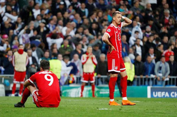 ... cũng là nỗi buồn của các sao Bayern Munich.