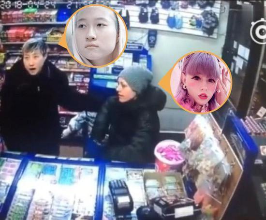 Con gái của Thành Long cùng người tình đồng giớitại một siêu thị ở Canada.